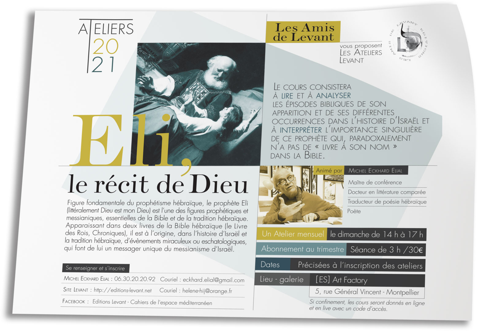 Flyer cours Éditions Levatnt